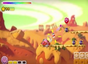 Kirby and the Rainbow Curse tank Kirby WiiU Nintendo