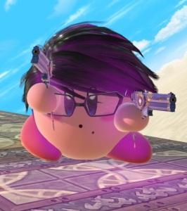 Kirby as Bayonetta super Smash Bros ultimate Nintendo Switch