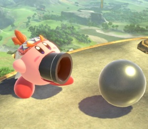 Kirby as Bowser Jr super Smash Bros ultimate Nintendo Switch