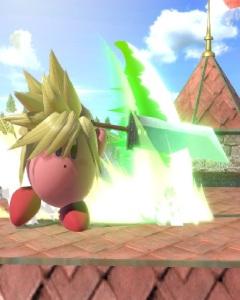 Kirby as Cloud super Smash Bros ultimate Nintendo Switch SquareEnix final fantasy vii