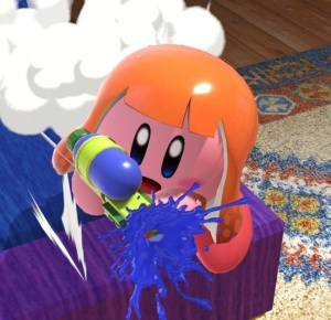 Kirby as Inkling super Smash Bros ultimate Nintendo Switch splatoon