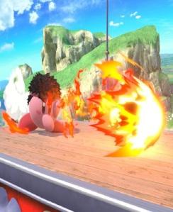 Kirby as Ryu super Smash Bros ultimate Nintendo Switch street fighter Capcom
