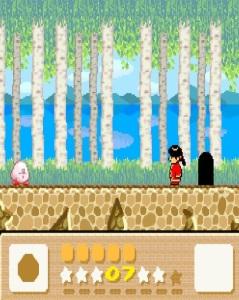 Kirby meets girl Kirby's Dreamland 3 SNES super Nintendo
