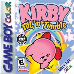 Kirby Tilt 'n 'Tumble game boy color boxart Nintendo