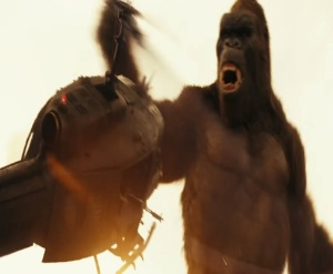 King Kong destroys helicopter Kong: Skull Island