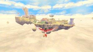 Flying around skyloft The Legend of Zelda: Skyward Sword Wii Nintendo