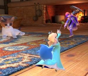 Rosalina and luma vs hero Living room stage super Smash Bros ultimate Nintendo Switch