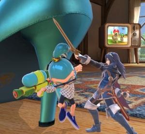 Lucina vs inkling Living room stage super Smash Bros ultimate Nintendo Switch