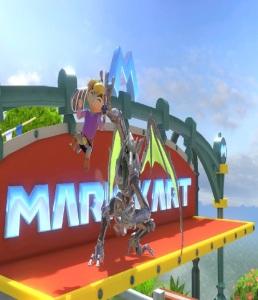 Ridley vs toon link Mario Circuit stage super Smash Bros ultimate Nintendo Switch Mario Kart