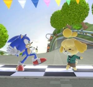 Sonic vs Isabelle Mario Circuit stage super Smash Bros ultimate Nintendo Switch Mario Kart