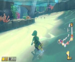 Link from the legend of Zelda Mario Kart 8 Deluxe Nintendo Switch