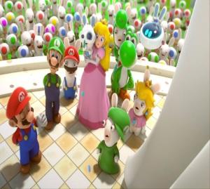 Mario and friends save the kingdom Mario + Rabbids Kingdom Battle Nintendo Switch ubisoft