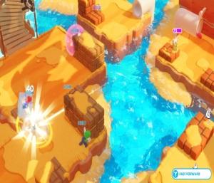 Mario and Luigi vs enemies Mario + Rabbids Kingdom Battle Nintendo Switch ubisoft