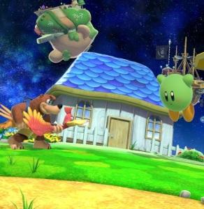 Banjo and Kazooie vs Kirby Mario Galaxy Stage super Smash Bros ultimate Nintendo Switch
