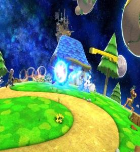 Young link vs Samus aran Mario Galaxy Stage super Smash Bros ultimate Nintendo Switch
