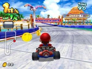 Mario Kart Arcade GP Mario driving Namco