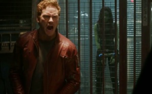 Guardians of the Galaxy star lord Peter quill getting gamora out of prison Chris Pratt