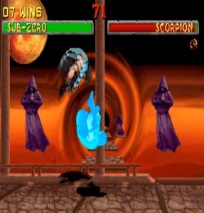 Subzero vs scorpion mortal kombat II Arcade