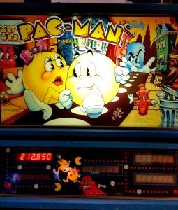 Mr. and Mrs. Pac-Man Pinball board