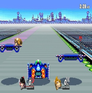 Mute City SNES stage super Smash Bros ultimate Nintendo Switch F-Zero