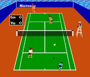 Doubles match Tennis NES Nintendo