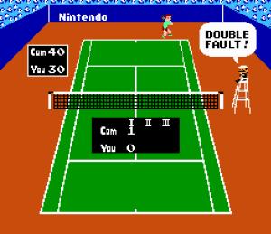 Mario referee cameo Tennis NES Nintendo