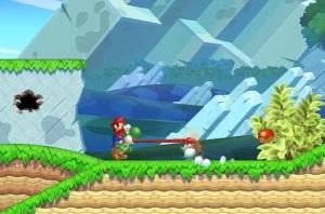 Mario riding Yoshi New Super Mario Bros U Nintendo WiiU