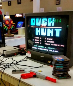 Duck Hunt NES on an old television