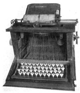 The very first Remington typewriter