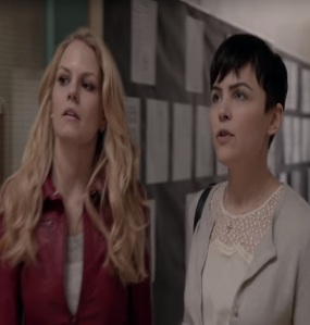 Mary Margaret Blanchard and emma Swan Storybrooke elementary school once upon a time Gennifer Goodwin