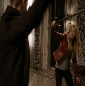 Once upon a time Emma Swan sword duel with Gideon Gold