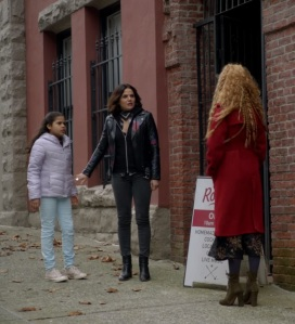 Regina Mills and granddaughter Lucy once upon a time ABC