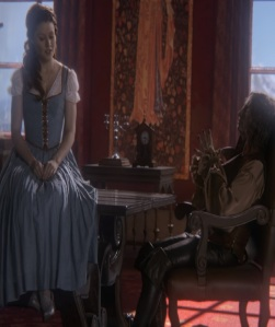 Rumplestiltskin meets Belle once upon a time ABC Robert Carlyle