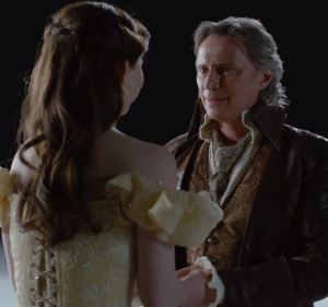 Rumplestiltskin and Belle in heaven once upon a time ABC Robert Carlyle