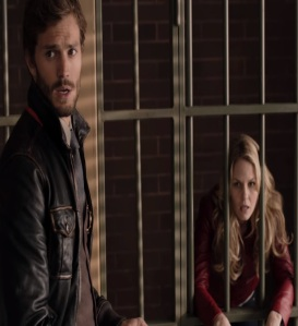 Sheriff Graham puts Emma Swan in jail once upon a time ABC