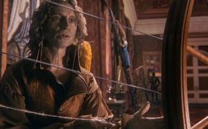 Once upon a time Rumplestiltskin spinning straw into gold