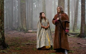 Once upon a time Belle and Rumplestiltskin spare Robin Hood