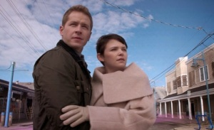 Once upon a time snow white and David see magic return to Storybrooke Maine