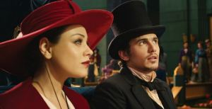 Theodora wicked witch and Oscar Diggs Oz The Great and Powerful James Franco mila Kunis
