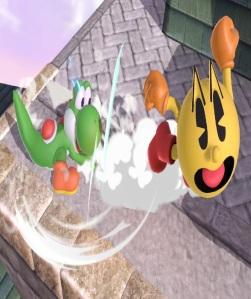 Pac-Man vs Yoshi Super Smash Bros ultimate Nintendo Switch Bandai Namco