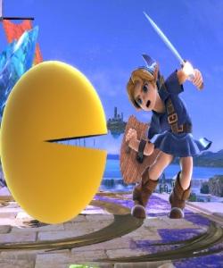 Pac-Man vs young link Super Smash Bros ultimate Nintendo Switch Bandai Namco