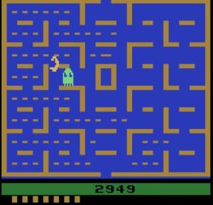 One ghost Pac-Man Atari 2600