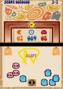 Blue and pink ghosts Pac-Pix Nintendo DS Namco
