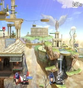 Palutena's Temple Stage super Smash Bros ultimate Nintendo Switch kid icarus