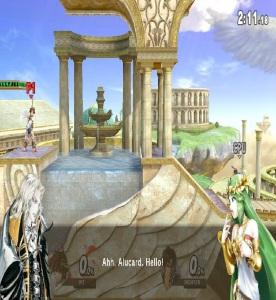 Palutena's guidance Palutena's Temple Stage super Smash Bros ultimate Nintendo Switch kid icarus Alucard cameo