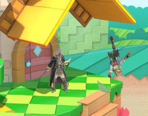 Robin vs fox Paper Mario Stage super Smash Bros ultimate Nintendo Switch