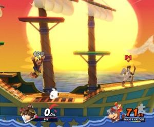 Banjo and Kazooie vs pit Paper Mario Stage super Smash Bros ultimate Nintendo Switch