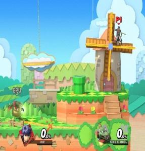 Paper Mario Stage super Smash Bros ultimate Nintendo Switch