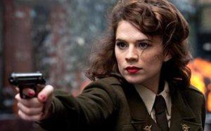 Captain America the first Avenger Peggy Carter handgun pistol hayley Atwell