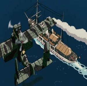Porco Rosso air pirates take oveover ship Hayao Miyazaki studio Ghibli